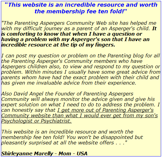 how to join the all new parenting aspergers community rh parentingaspergerscommunity com Parents Who Have Asperger's the parenting aspergers resource guide